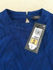Marks & Spencer Cobalt Blue Ladies Top/Blouse Size 10 BNWT Cost £19.50