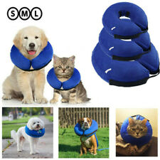 S-XL Inflatable Pet Collar Dog Cat Puppy Surgery Lampshade Cone Neck Injury3CAU