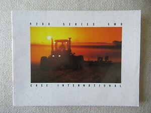 CaseIH International 9260 9270 9280 9210 9240 9200 series 4WD tractor brochure