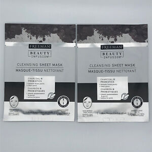 2pk Freeman Beauty Infusion Charcoal Cleansing Peel Off Face Mask 0.84 oz.
