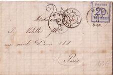 ALSACE LORRAINE - METZ - 20c N°6 SUR LETTRE DU 22-9-1871 - TAXE 25 DT  (R)