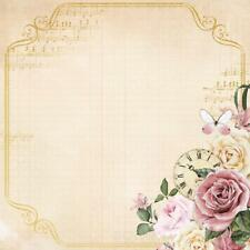Kaisercraft Paper Mademoiselle 12x12 Specialty Foil Timeless PS458 Shabby Chic