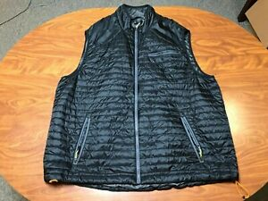 MENS USED LIGHTLY WORN ORVIS BLACK FULL ZIP PRIMALOFT LIGHTWEIGHT VEST SIZE 2XL
