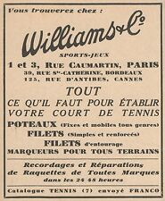 Z9257 WILLIAMS & C. - Sports - Jeux -  Pubblicità d'epoca - 1932 Old advertising