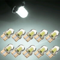 10x LED T10 194 168 W5W COB 8SMD CANBUS Silica Bright White License Lights Bulbs