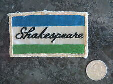 Vintage Fishing Patch - Shakespeare - 3 1/2 x 2 inch