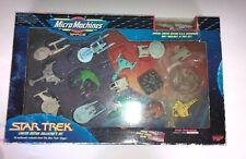 STAR TREK MICRO MACHINES 207337 1993 LTD EDITION COLLECTOR SET 16 SHIPS MIB BOX