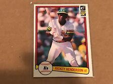 RICKEY HENDERSON 1982 DONRUSS #113  A'S!