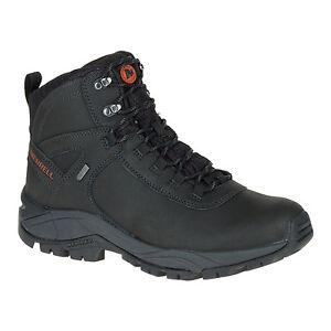 Original Merrell Vego Mid Leather Shoes Men's - Black J311538C Waterproof
