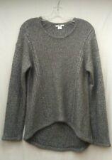 Helmut Lang Size L Knit Sweater Pebble Angora Wool Blend