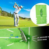 Golf Puttingmatte Übungsmatte Abschlagmatte Training Matte Innenschaukel 60*30cm