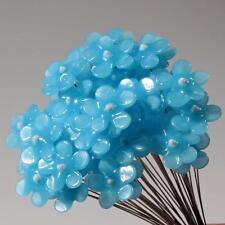 Czech lampwork opaline blue flower glass craft arranging headpin bead 1 piece