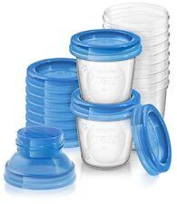 Philips Avent Aufbewahrungssystem Muttermilch 10 x 180 ml Becher Deckel Adapter