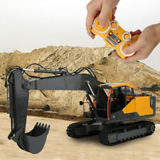 E568-02 1:18 2.4G Remote Control RC Engineering Car Excavator Toy Car LED Toy❤IM