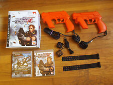 Time Crisis 4 (Bundle)(Plays..3, 2007) 2 Brand New Games, 2 Guncon3 Controllers
