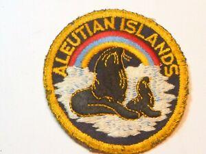 A  WW 2 U S Army Aleutian Islands   Embroidered Black Twill CC/B Patch