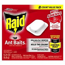 Raid Ant Baits - 8 Traps Value Pack - Child Resistant With Adhesive 3 Month Use