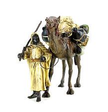 Un disfraz oriental guerrero con kamel-Wiener bronce árabes-beduino-con sello
