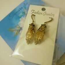 Artisan handmade Roman Viking style brass drop earrings