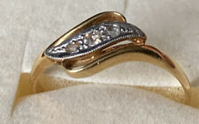 Vintage 18ct Gold And Platinum Diamond Ring - Size P