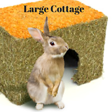 Rosewood Real Carrot Cottage Gnaw Chew Hide Sleep Rabbit Hamster Small Animal