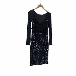 Donna Karan Collection Black Sequin Dress M