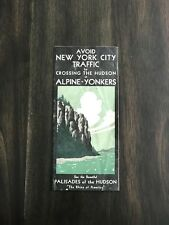 Alpine Yonkers Ferry Hudson River NYC AAA 1932 Map With The Palisades