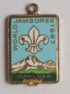 World Scout Jamboree 1967 Idaho USA vintage enamel souvenir travel charm