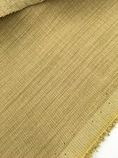 Modern Upholstery Fabric  Faux Linen BTY Light Gold Olive Green