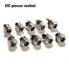 10X  DC Jack enchufe hembra de montaje panel conectores de 5,5 mm x 2,1 mm