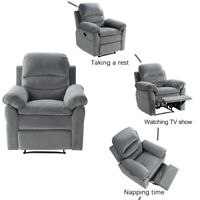 Recliner Sofa Chair Manual Single Couch Reclining Chair Home Furniture Gray