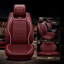 Burgundy Leather Car Seat Covers fit Nissan X-Trail Pulsar Qashqai Navara Murano