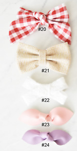 California Tot SALE Strong Grip Bow Clips Barrettes for Fine Hair Toddler Girls
