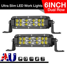 "2x 6INCH 72W Orsam LED Light Bar Spot Flood Work Reverse Dual Row 7"" Driving Fog"