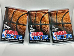 1991-92 NBA Hoops Series 1 Basketball Card Packs 3 x Sealed Packets, Jordan?