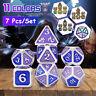 Würfel Rollen Spielen Polyhedral Dice Würfelset Würfelspiel 7st Set Alloy Metall