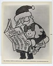 Vintage 1970s HOLIDAY NETWORK 8x10 YES, VIRGINIA, THERE IS A SANTA CLAUS