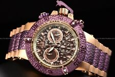 Invicta 50mm Subaqua Noma III Hammer Swiss Chrono Mermaid Purple Rose Gold Watch