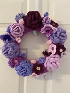 Handmade Crochet flower door wreath
