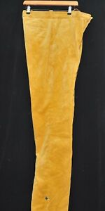 """SUPERB FLAT FRONT PURDEY CORD CORDUROY TROUSERS  W 34"""" L 34"""" MUSTARD"""