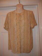 Viyella Yellow Blouse Size 12 Ladies Buttoned Top
