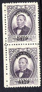 Mexico 1879 Juarez 2¢ Violet No District Thick Paper Left Margin Pair MNH MX294