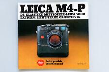 Broschüre Prospekt Katalog LEICA M4-P ORIGINAL NEU