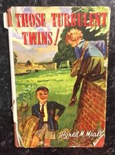 THOSE TURBULENT TWINS ! BY AGNES M. MIALL RARE 1945 FIRST EDITION HARDBACK BOOK
