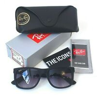 Ray-Ban RB4165 601/8G Justin Sunglasses 54-16 145 Classic Rectangle Grey Gradien