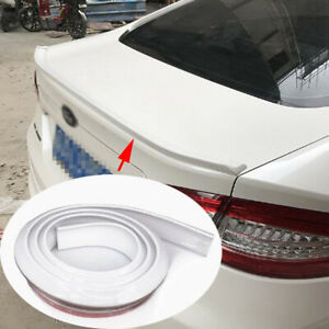1.5M Universal Car Soft Styling 5D White Rear Tail Spoiler Wing Lip Stricker