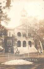 Kissimmee Florida Court House Real Photo Vintage Postcard AA26852
