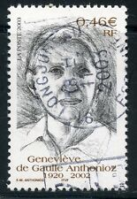 STAMP / TIMBRE FRANCE OBLITERE N° 3544 GENEVIEVE DE GAULLE ANTHONIOZ