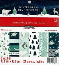 """Recollections """"Winter Dream"""" 6x6 Paper Pad 24 Sheets Scrapbooking"""