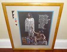 P. Cross Native American Indian Man Woman Couple Art Print Framed